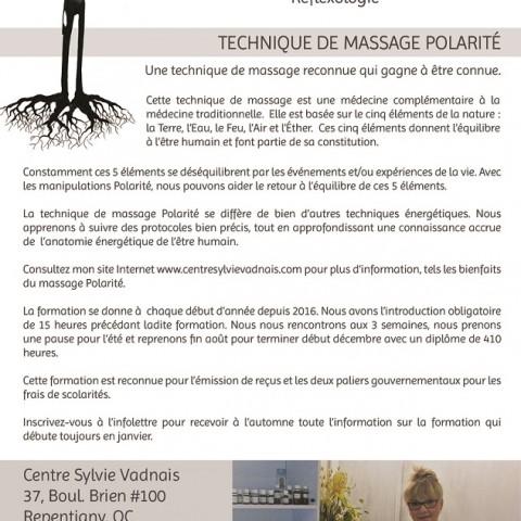 Centre Sylvie Vadnais - Massage polarité